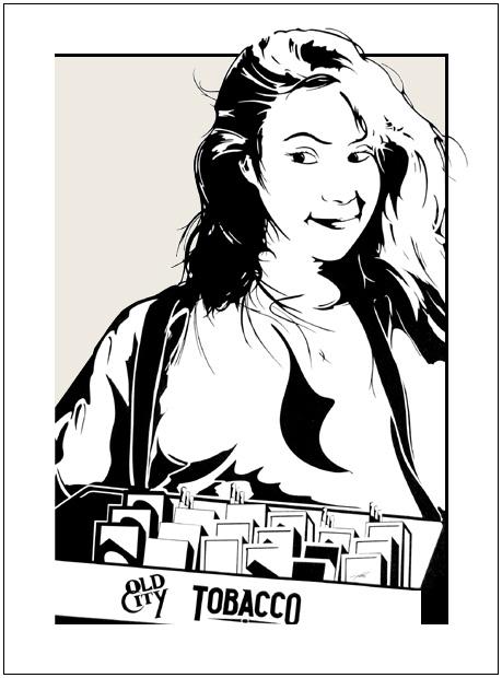 Tobacco Girl - Christina ArtStudio54