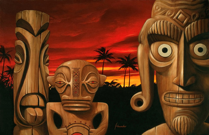 Scott Scheidly - Sunset Tiki World Class Artist