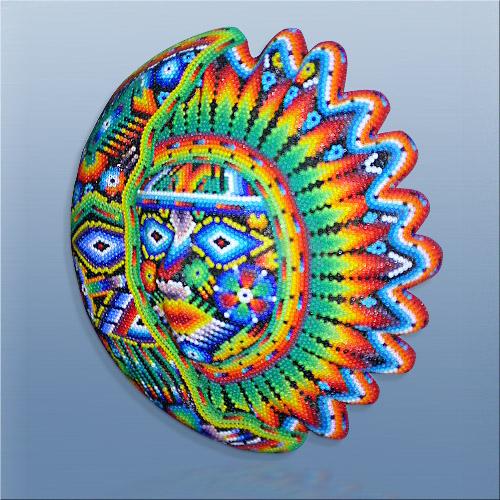 Silver Eagle Artist Bearer - Casa Huichol World Class Artist