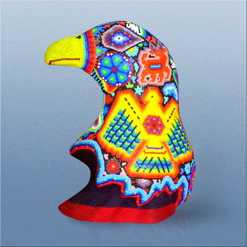 Silver Eagle Artist Bearer - Casa Huichol World Class Artist