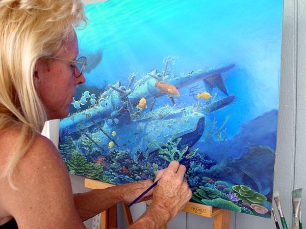 Randy Nagle - PBY Painting In Progress World Class Artist