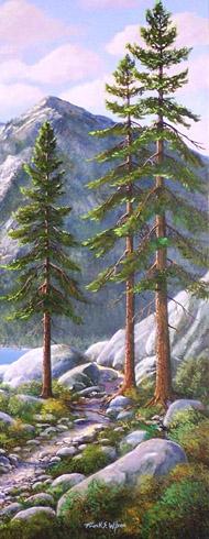 Frank Wilson - Tall Pines From Mountain Trail World Class Artist
