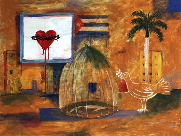 Peace For Cuba - Rigoberto Antonio Guerrero - Artista de Cuba World Class Artist
