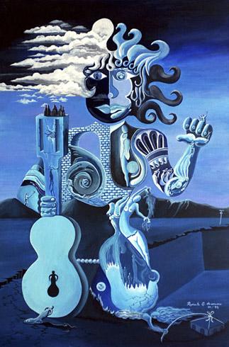 Rigoberto Antonio Guerrero - Blue Woman World Class Artist