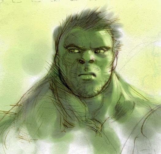 Keron Grant - Hulk Sketch World Class Artist