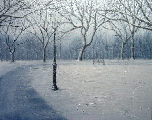 Allan Linder - Winter In Park World Class Artist