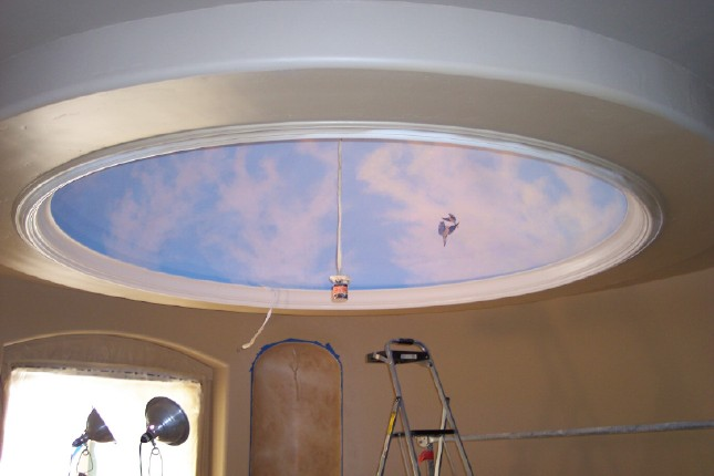 Frank Wilson - Ceiling Mural In A Dome.  Favorite Artist