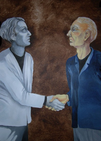 Artist Joyce DiBona - The Inevitable Meeting World Class Artist