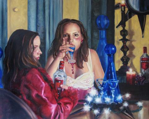 Vodka Angel: Double Self-Portrait - Anna Weber World Class Artist