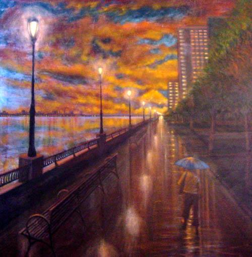 Downtown Blue - Allan Linder World Class Artist