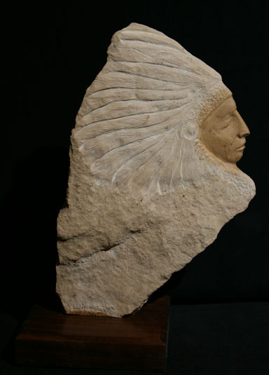 Rudolf Cavalier - Arizona Picture Stone Warrior World Class Artist