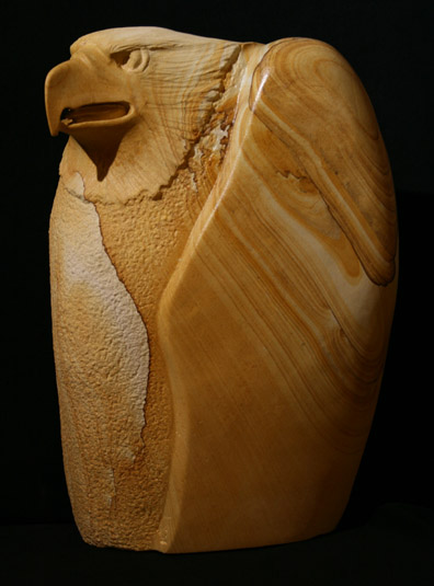 Rudolf Cavalier - Eagle carved from Arizona Picture Stone World Class Artist