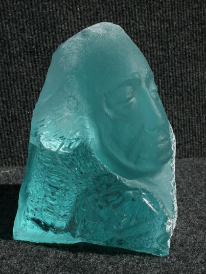 Rudolf Cavalier - Aqua Slag Glass Warrior World Class Artist