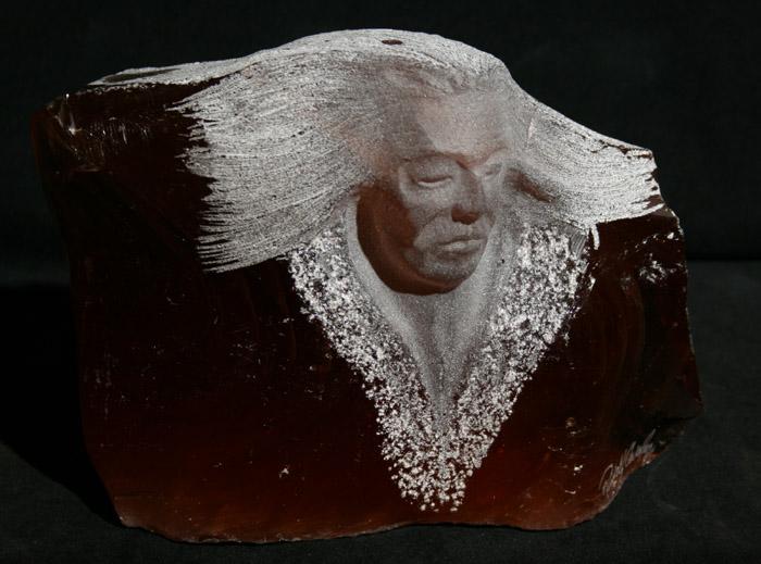 Rudolf Cavalier - Red Slag Glass Warrior World Class Artist