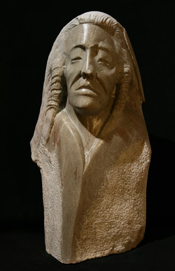 Rudolf Cavalier - Warrior Carved From Utah Alabaster World Class Artist