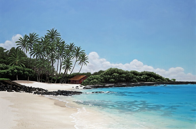 Kona Beach Shack - Brian Marshall White World Class Artist