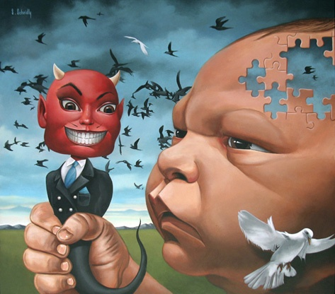 Good And Evil - Scott Scheidly World Class Artist