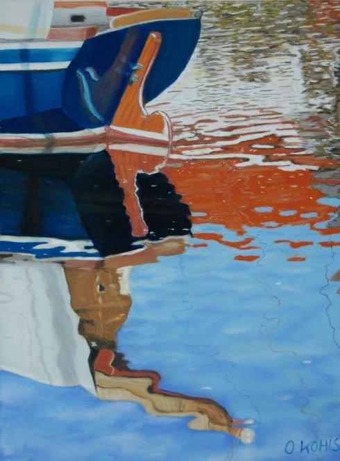 Oliver Kohls | Blaues Boot vor weissem Haus World Class Artist