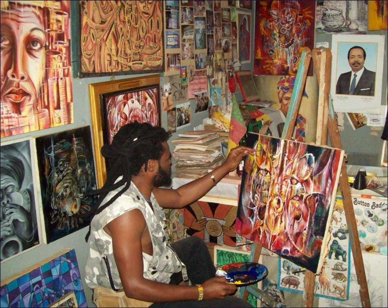 Yenaye Rene Mkerka - The Artist From Cameroon World Class Artists