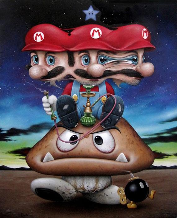 Scott Scheidly - Mario Gets Bombed World Class Artist