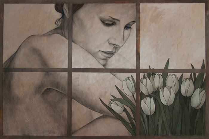 Olga Gouskova - White Tulips Favorite Artist