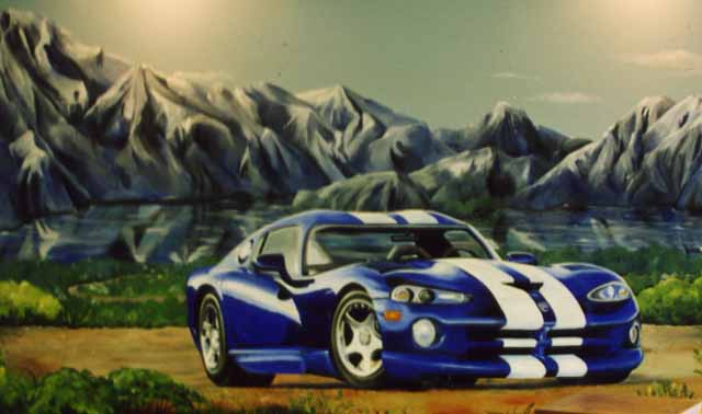 Dodge Viper mural